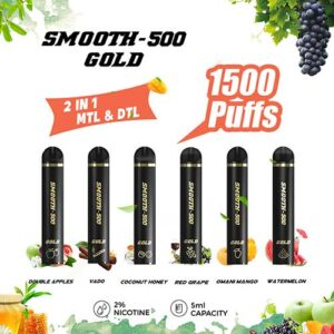 Buy Smooth-500 Gold with 1500 Puffs